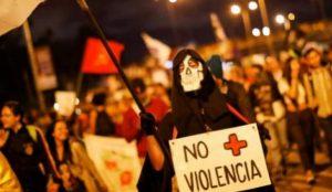 Manifestaciones en Colombia contra la violencia constante